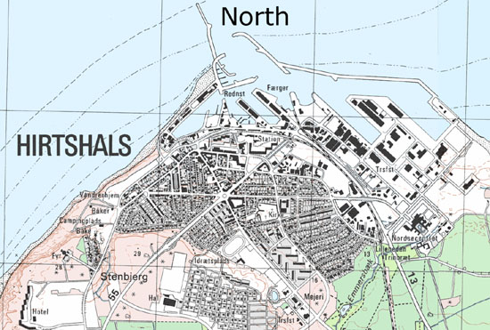 Hirtshals on the map